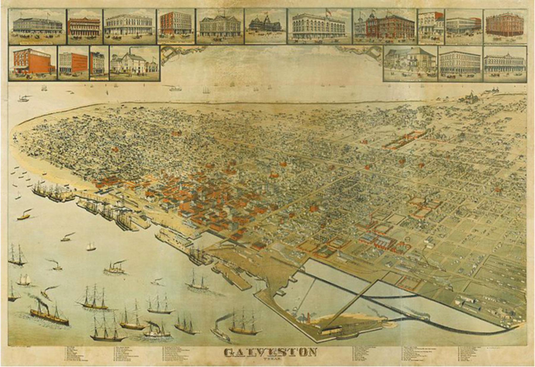 East End of Galveston Island, 1885